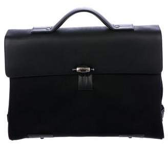 Montblanc Leather-Trimmed Briefcase