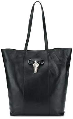 Just Cavalli black leather tote bag