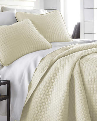 South Shore Linens Oversized Geometric Easy Care Quilt Set