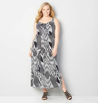 Avenue Swirl Waterfall Maxi Dress