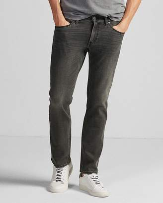 Express Slim Straight Gray 4 Way Stretch Jeans
