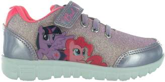 My Little Pony Girls MLP Glitter with Silver Glitter Trainers Joggers UK Size 8