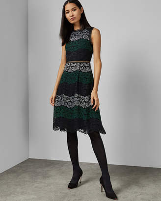23eb7e199e75 Ted Baker INARRA Color block lace dress