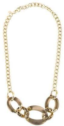 Alexis Bittar Golden Futurist Link Necklace 4ct4L34