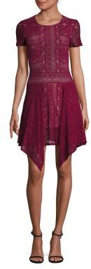 BCBGMAXAZRIA Aileen Floral Lace Dress $228 thestylecure.com