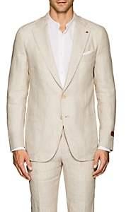 Isaia Men's Dustin Linen Two-Button Sportcoat-Beige, Khaki