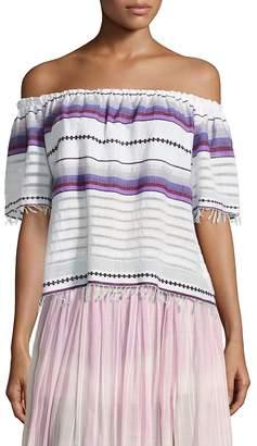 Lemlem Women's Adia Striped Off-The-Shoulder Top