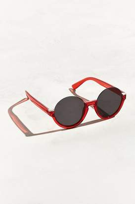 Urban Outfitters Plastic Low Half-Frame Round Sunglasses