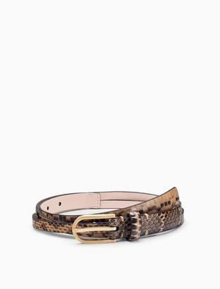 Calvin Klein snake texture leather x-strap belt