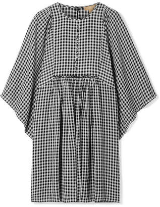 Michael Kors Checked Crepe Mini Dress - Black