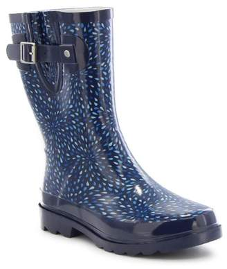 Western Chief Raindrop Burst Mid Calf Waterproof Rain Boot