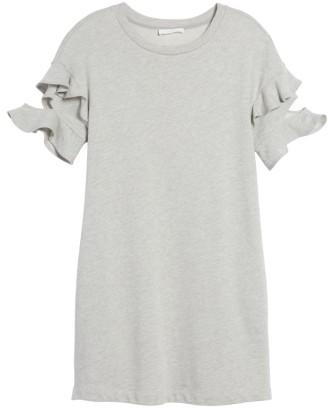 Women's Lush Ruffle Cutout Sweatshirt Dress 4