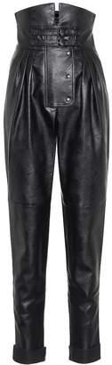 Maison Margiela Faux leather high-rise pants