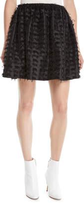 Anais Jourden Textured Shimmer Mini Skirt