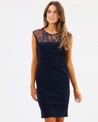 Wallis Lace Yoke Ruch Side Dress