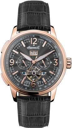 Ingersoll Regent Automatic Open Heart Leather Strap Watch, 47mm