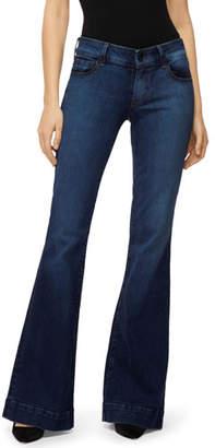 J Brand Lovestory Mid-Rise Flare-Leg Jeans