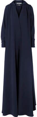 Jacquemus L'ensemble Djellaba Oversized Wool-crepe Jumpsuit - Navy