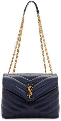 Saint Laurent Navy Small Loulou Chain Bag