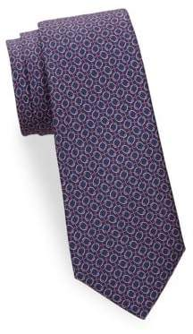 Saks Fifth Avenue Interwoven Silk Tie
