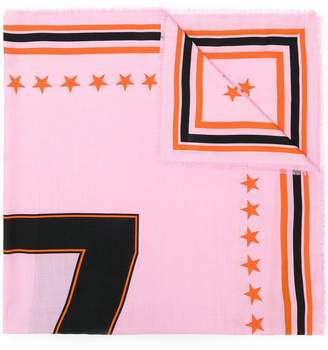 Givenchy 17 print scarf