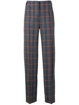 Cédric Charlier plaid tailored trousers