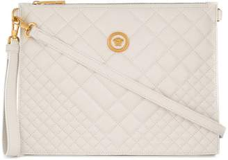 Versace embossed square clutch bag
