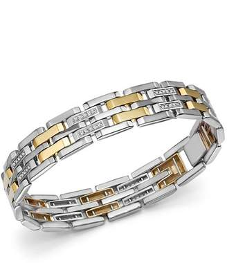 Bloomingdale's Diamond Men's Bracelet in 14K Yellow Gold & Sterling Silver, 0.50 ct. t.w. - 100% Exclusive
