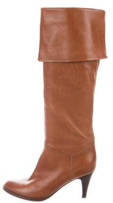L'Autre Chose Leather Round-Toe Boots