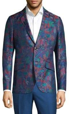 Etro Floral Slim-Fit Cotton Jacket