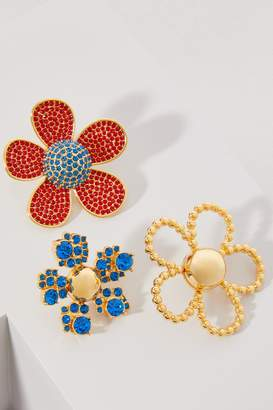 Marc Jacobs Daisy Pave brooch set