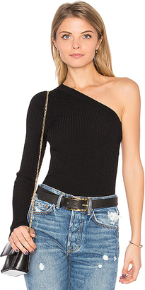 Autumn Cashmere One Shoulder Top in Black $165 thestylecure.com