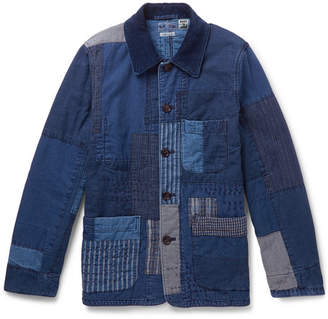 Blue Blue Japan Patchwork Sashiko-Stitched Indigo-Dyed Cotton Jacket