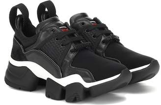 Givenchy Low Jaw leather-trimmed sneakers