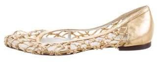 Dolce & Gabbana Metallic Woven Flats