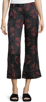 A.L.C. Evans Crop Flare Silk Pants