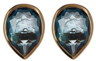 Ippolita 18K Yellow Gold Rock Candy Pear Cut London Blue Topaz Stud Earrings