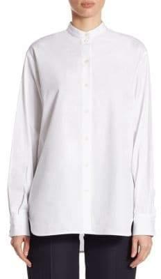 Victoria Beckham Cotton Button-Front Blouse