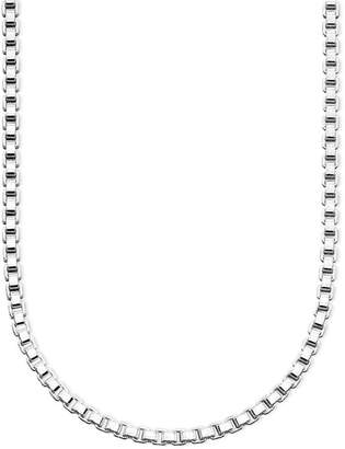 "Giani Bernini Sterling Silver Necklace, 20"" Box Chain"