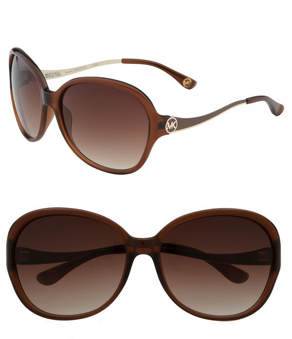 MICHAEL Michael Kors 'Drake' Oversized Round Sunglasses