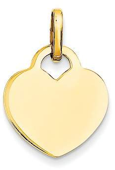 BSE 14k Yellow Gold Polished Heart Charm (15 x 21 mm)