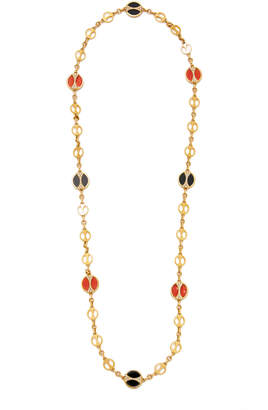 Bulgari Vintage Coral And Onyx Necklace