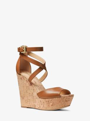 MICHAEL Michael Kors Gabriella Leather Wedge