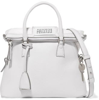 Maison Margiela - 5ac Baby Textured-leather Tote - White $1,975 thestylecure.com