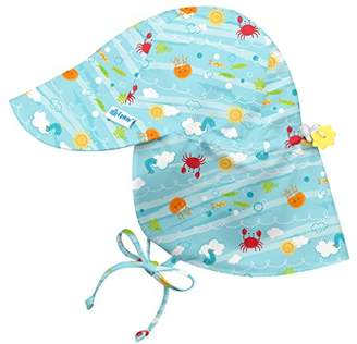 135d54a55e2 I Play Flap Hat - Aqua Sea Friends - 0-6M