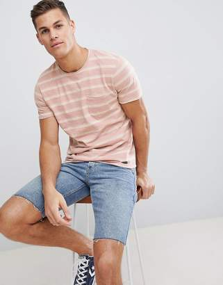 Brave Soul Pocket Stripe T-Shirt