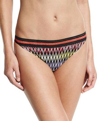 Missoni Mare Stitch-Trim Hipster Swim Bottom, Black $200 thestylecure.com