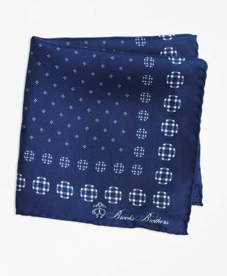 Brooks Brothers Plaid and Dot Pocket Square