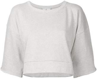 Miharayasuhiro half sleeve cropped sweatshirt