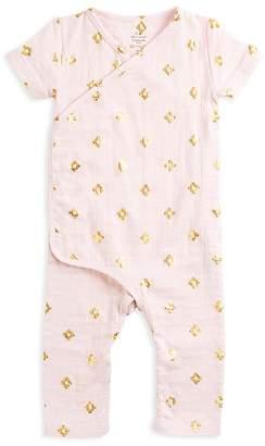 Aden and Anais Girls' Kimono Style Metallic Print Coverall - Baby $26.95 thestylecure.com